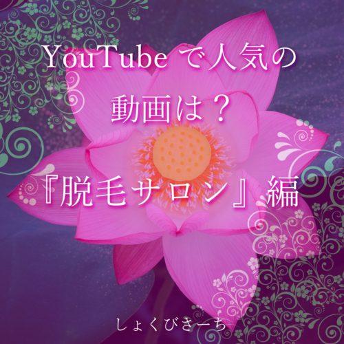 YouTube人気動画 -『脱毛サロン、医療脱毛』