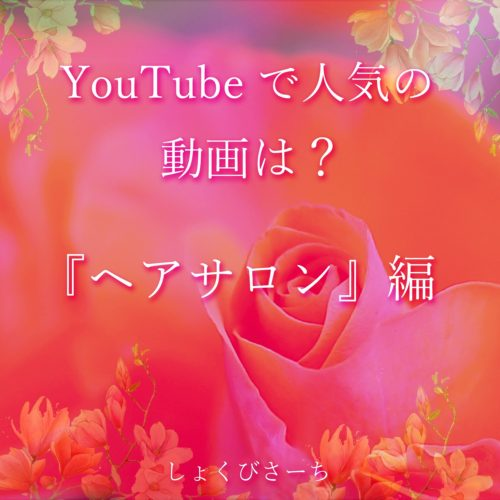今週のYouTube人気動画 -『ヘアサロン』